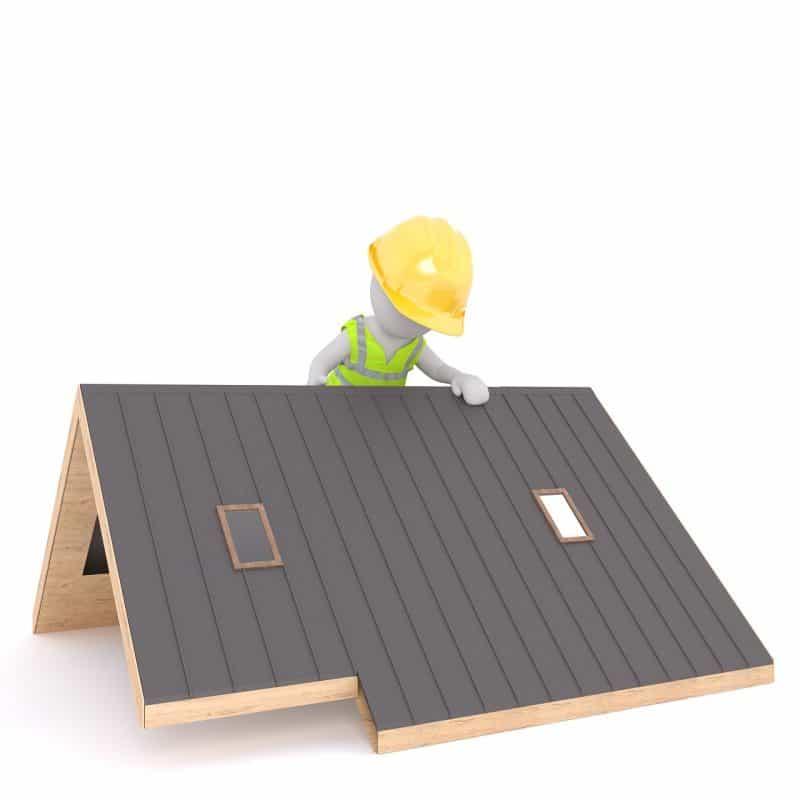 עבודה על גג